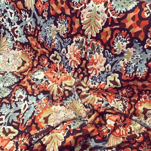 Jersey Fabric Autumn Floral