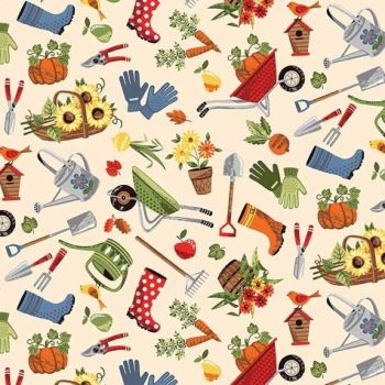 Makower Good Life Scatter Fabric