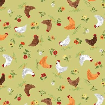Makower Good Life Hens Fabric
