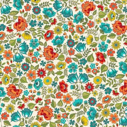 Makower Bloom Chintz Fabric