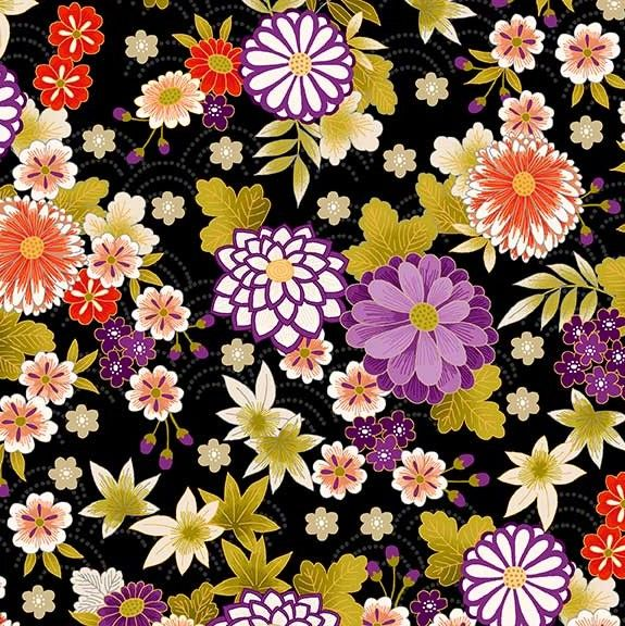 Makower Kimona Chrysanthemum Fabric