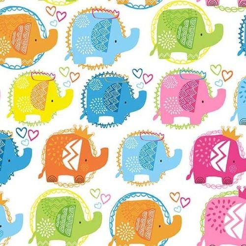 Makower Ellie Elephants Fabric