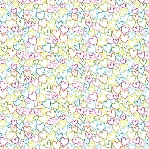 Makower Ellie Hearts Fabric