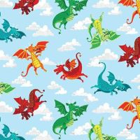 Makower Dragon Hearts Dragons
