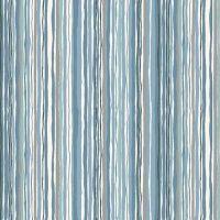 Makower Woodland Stripe Blue Fabric