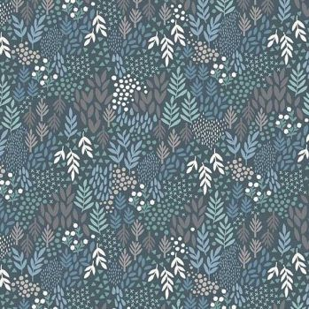 Makower Woodland Leaves Fabric