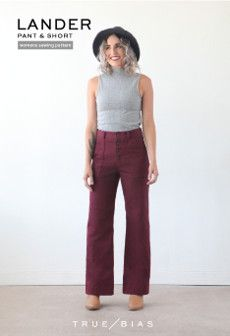 True Bias Sewing Pattern Lander Pants & Shorts