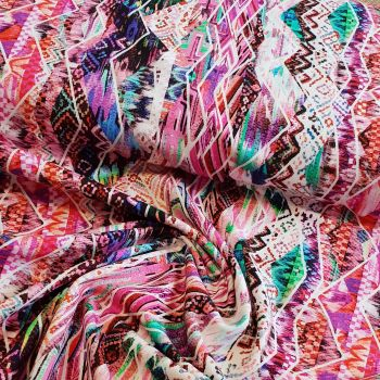 Jersey Fabric Aztec Design