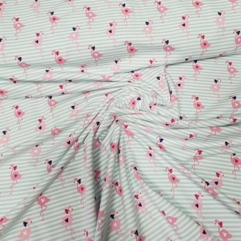 Jersey Fabric Flamingos