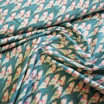 Jersey Fabric Love Birds