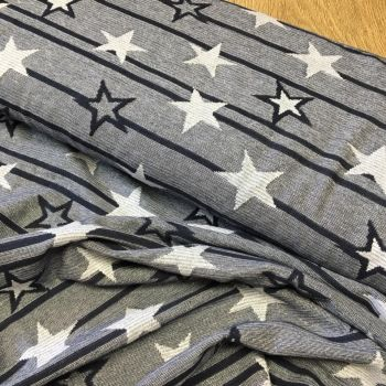 Metallic Jacquar Fabric Stars