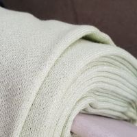 French Terry Knit Fabric Pale Mint