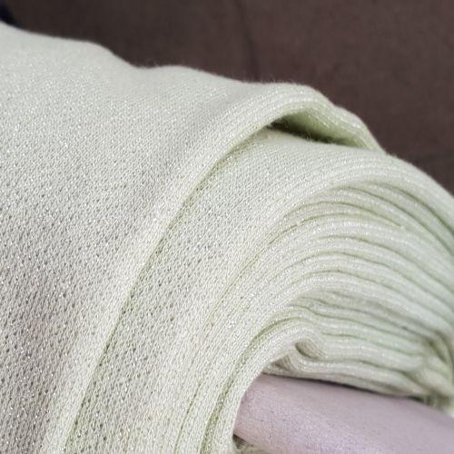 Lurex Jersey Knit Fabric Pale Mint