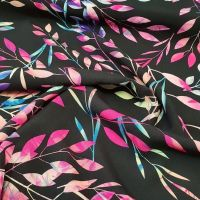 Viscose Black Leaves