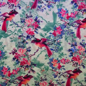 Viscose Dress Fabric Birds