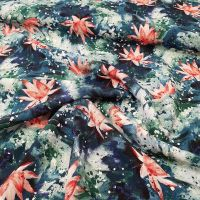 Viscose Dress Fabric Water Lily