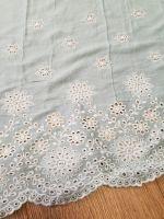 Viscose Embroidery Dress Fabric Mint
