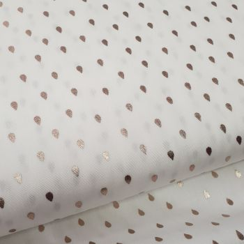Cotton Poplin Metallic Raindrops
