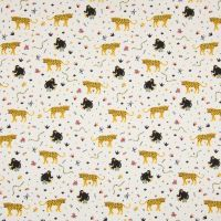 Cotton Poplin Leopard Monkeys
