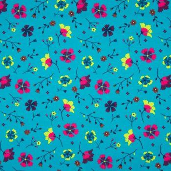 Cotton Jersey Folk Floral
