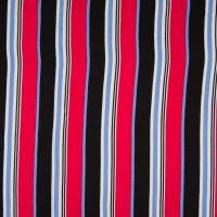 Viscose Stripe Black Red Blue