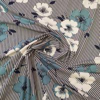 Viscose Jersey Stripe Florals