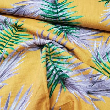 Polyester Tropical Leaves