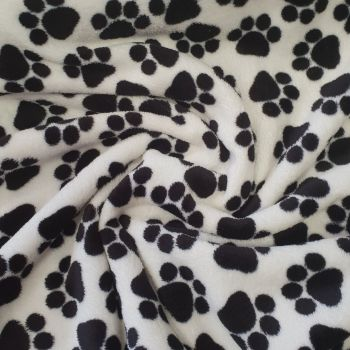 Fleece Paw Prints