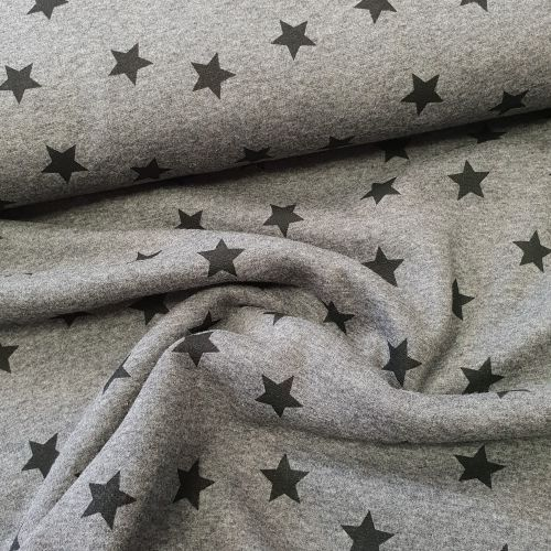 Stretch Jersey Stars Fleece Lined