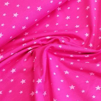 Cotton Jersey Stars Pink