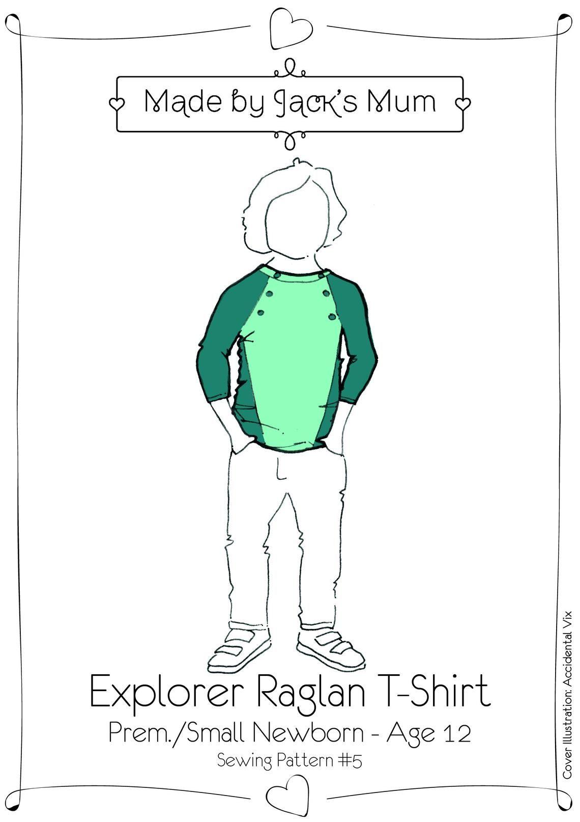 MBJB Raglan T-Shirt Pattern Age Newborn to 12 years