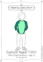 MBJB Raglan T-Shirt Pattern Age Newborn to 12 years