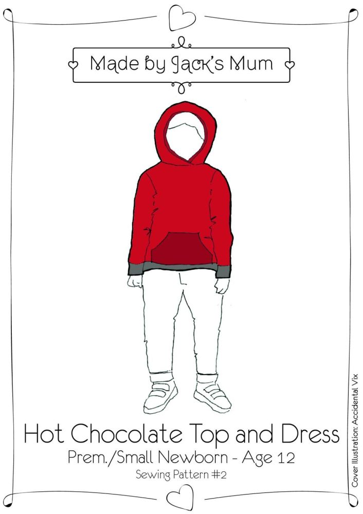MBJM Hot Chocolate Top And Dress Pattern Age Newborn To 12 Years