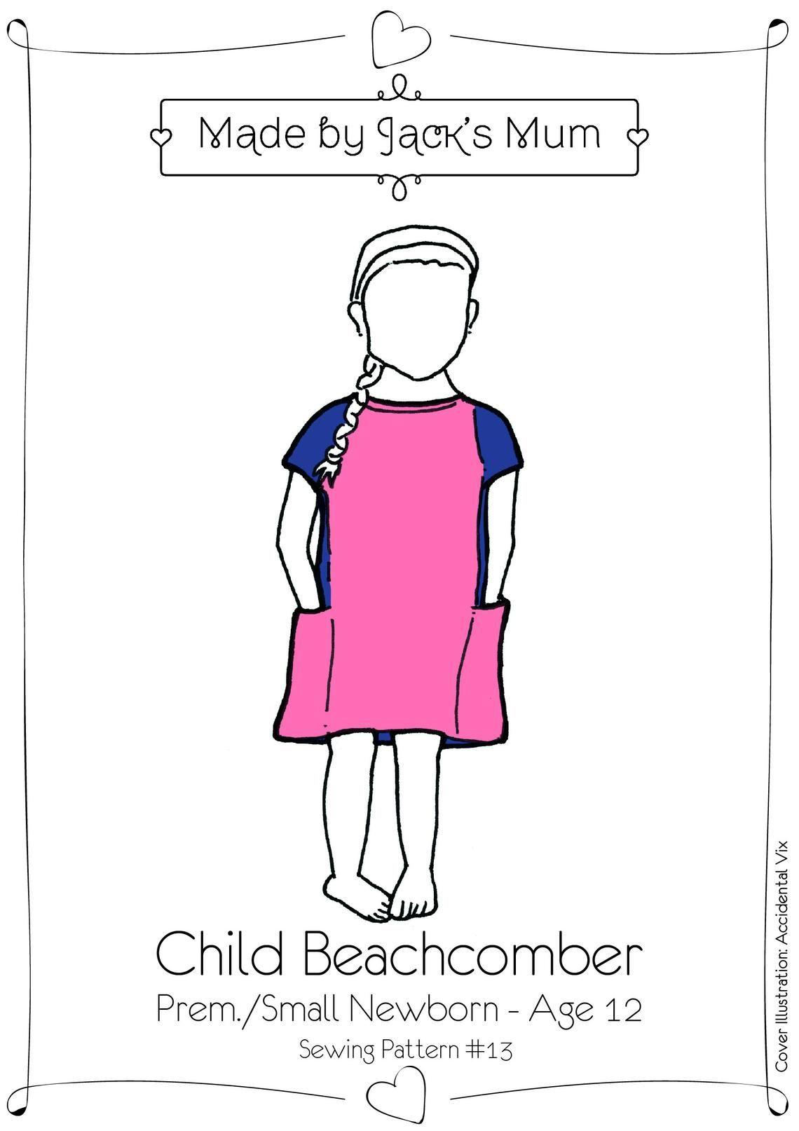 MBJM Beachcomber T-Shirt/Tunic Pattern Age Newborn to 12 Years
