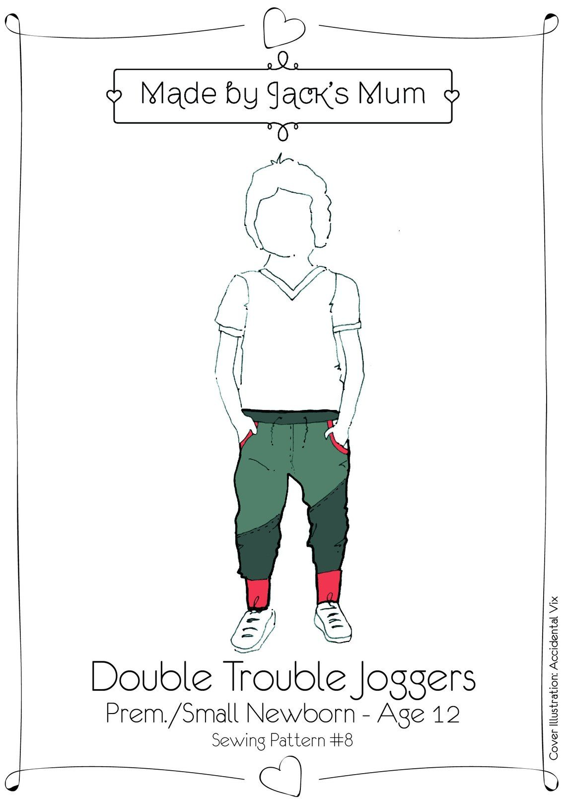 MBJM Double Trouble Joggers Pattern Age Newborn to 12 Years