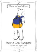 MBJM Back To cool Backpack Sewing Pattern