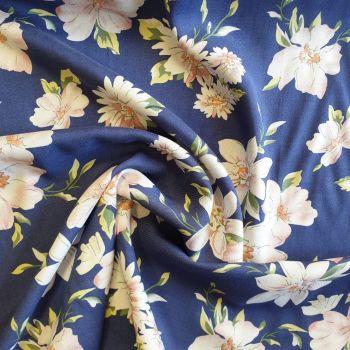 Viscose Blue Florals