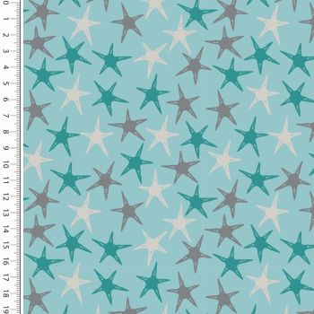 Cotton Jersey Fabric Starfish