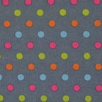 Denim Polka Dots Canvas PVC Coating