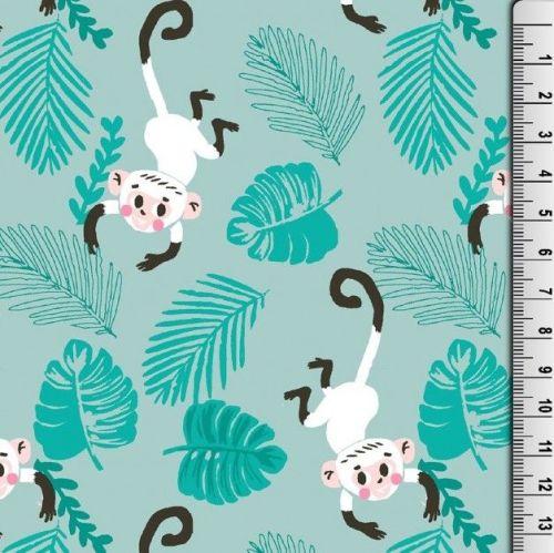 Cotton Jersey Fabric Monkeys
