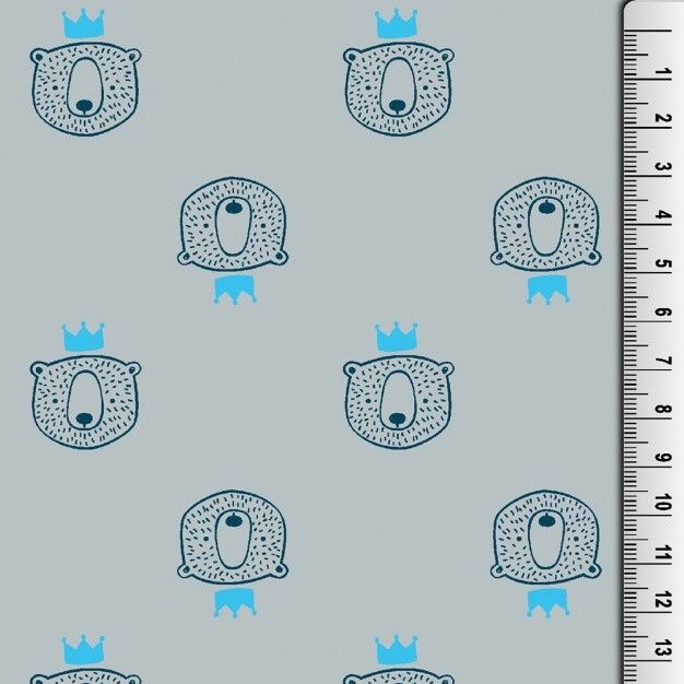 Cotton Jersey Fabric Bears