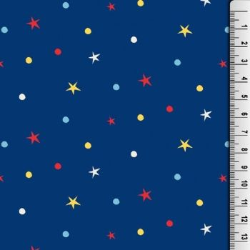 Cotton Jersey Fabric Stars