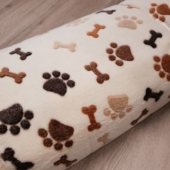 Fleece Paw Print