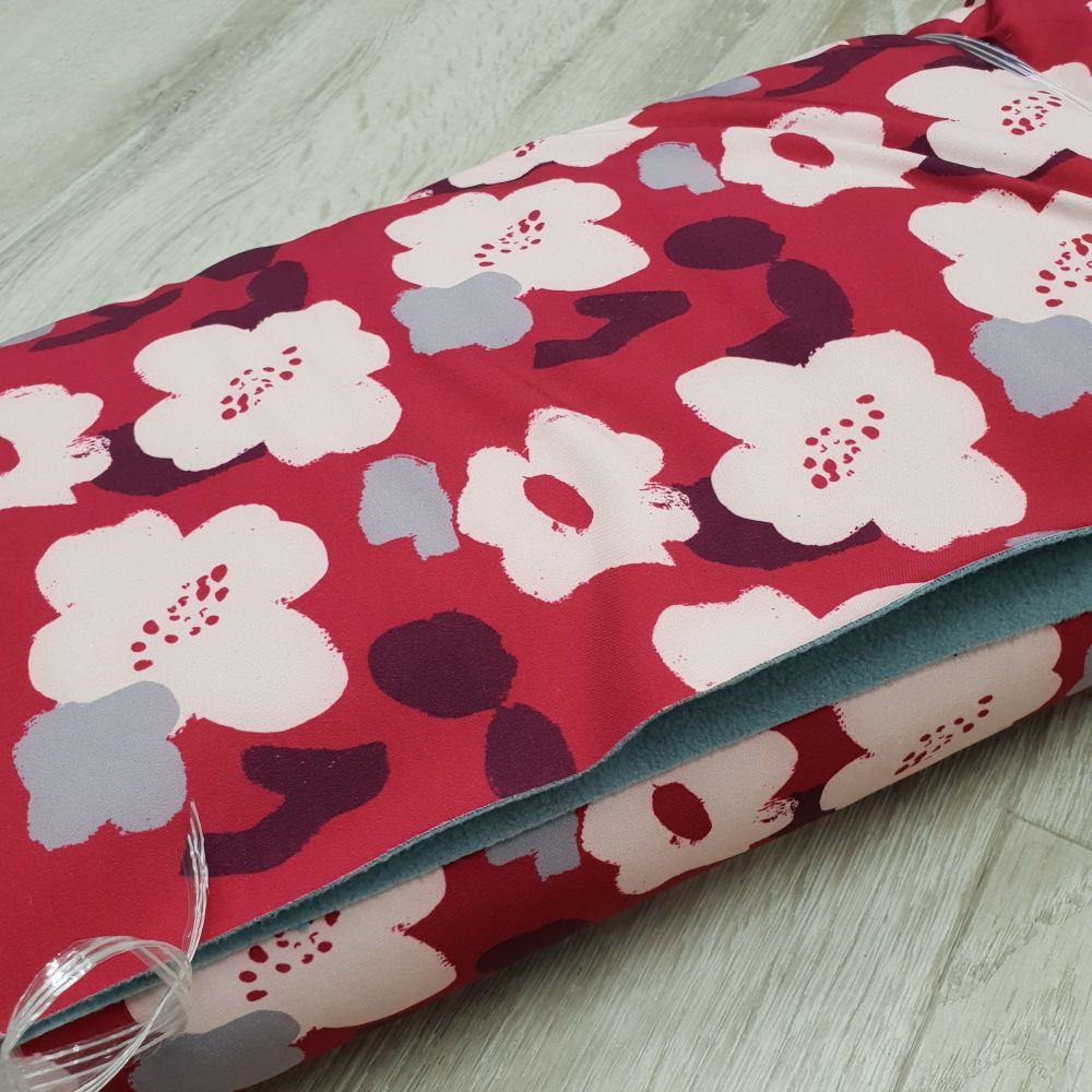 Softshell Fabric Red Floral
