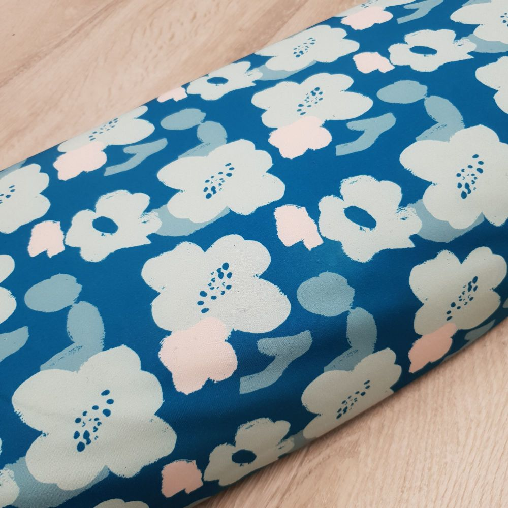 Softshell Fabric Blue Floral