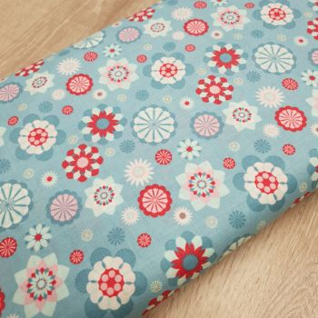 Cotton Retro Large Flowers