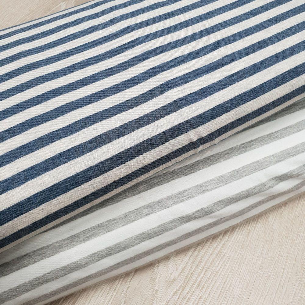 Jersey Fabric Stripes Navy