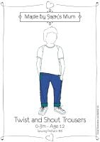 MBJM Twist & Shout Trousers/Jeans Sewing Pattern Age Newborn to 12 Years