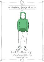 MBJM Hot Coffee Top Men's Sewing Pattern Size XXS-5XL