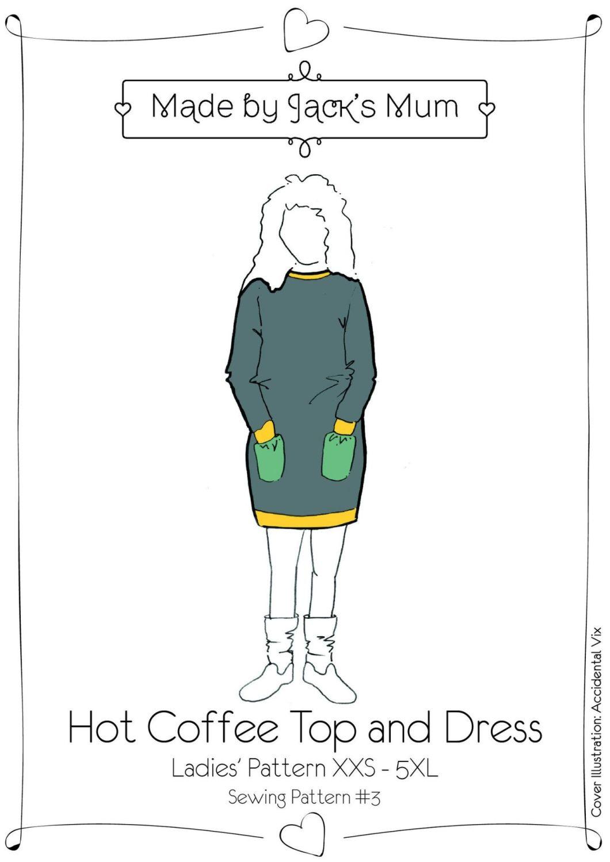 MBJM Hot Coffee Top & Dress Ladies Pattern Size XXS-5XL